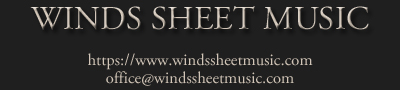 WINDS SHEET MUSIC